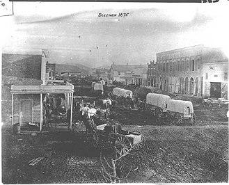 Bozeman, Montana - Bozeman Main Street, 1875
