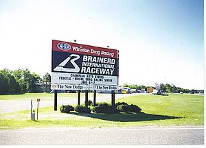 Brainerd International Raceway - Welcome sign in May 1997