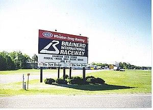 Brainerd International Raceway - Welcome sign in May 1997