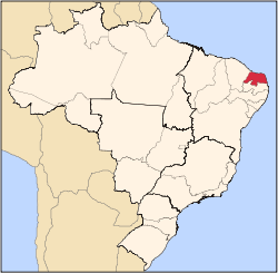 Location of Caicó