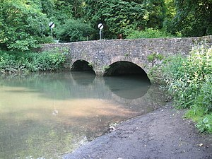 Great Elm - Image: Bridge over Mells River, Great Elm geograph.org.uk 836663