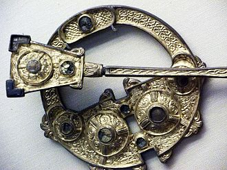 Brooch - Detail of the Irish pseudo-penannular Londesborough Brooch, British Museum