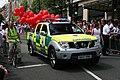 British Red Cross Nissan pickup in London gay parade.jpg