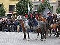 Brno, náměstí Svobody - mezinárodní policejní mistrovství ČR v jízdě na koni - příjezd a defilé soutěžních ekvip obr13.jpg