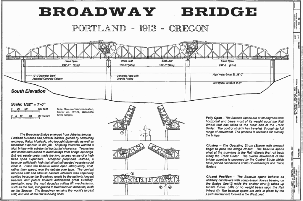 Drawings of Portland's Broadway Bridge. This Week in Cascadia: April 22nd - 28th