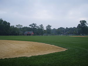 Allendale, New Jersey - The field at Brookside School