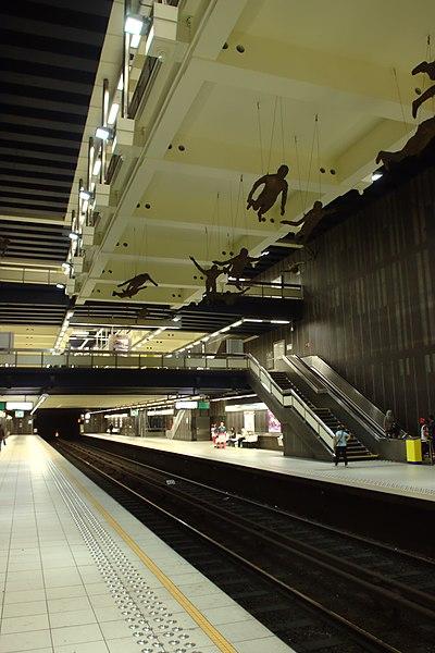Comte de Flandre Metro station, Brussels, Belgium