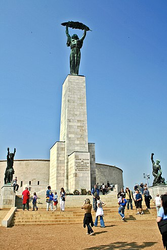 Liberty Statue (Budapest) - The Liberty Statue on the Gellért Hill