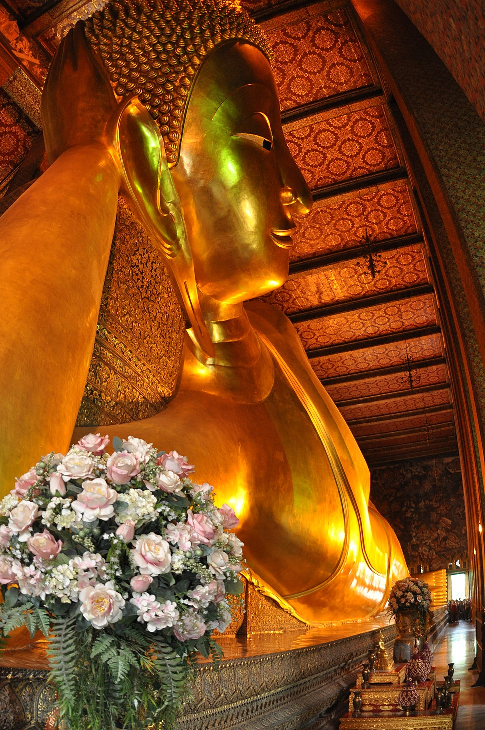 Buddha Reclining Bangkok Thailand by D Ramey Logan