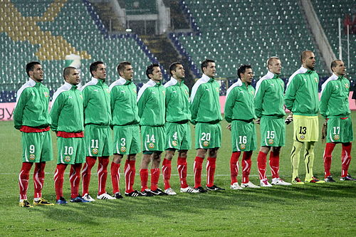 Bulgaria National Football Team in 2010 Bulgaria national football team 2010.JPG