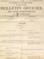 Bulletin Officiel des Actes Administratifs du Haut Commissariat, 14 May 1930, announcing the consitutions of the states within the French Mandate of Syria and Lebanon.png