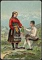 Bunadsmotiv - mann og kvinne i drakter fra Telemark av J. F. Eckersberg (34689850116).jpg