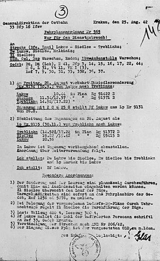 Glossary of Nazi Germany - Image: Bundesarchiv Bild 183 C0509 0049 012, KZ, Fahrplananordnung