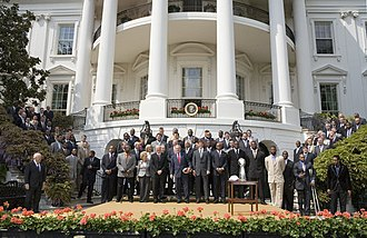 2007 New York Giants season - The Giants visiting the White House in honor of their Super Bowl victory on April 30, 2008.