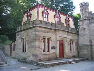 Allegheny Cemetery - The 1848 portion of the Butler Street Gatehouse (located beside the 1870 portion of the Butler Street entrance shown in the above picture)