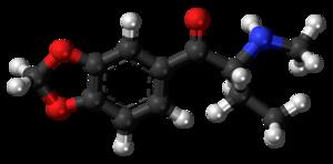 Butylone - Image: Butylone molecule ball
