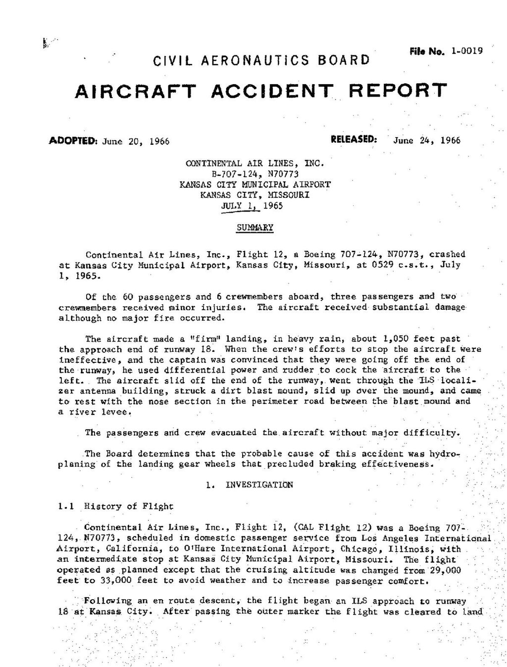 Page:CAB Accident Report, Continental Airlines Flight 12.pdf/1
