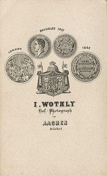 Ruckseite Einer Carte De Visite Aus Dem Atelier Jacob Wothlys Um 1865