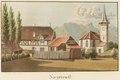 CH-NB - Sigriswil, Pfarrhaus und Kirche - Collection Gugelmann - GS-GUGE-WEIBEL-D-126b.tif