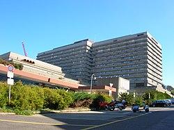 Des universitätsspitals lausanne chuv im stadtteil bugnon