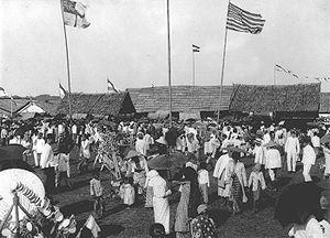Pasar malam - Pasar Malam in Batavia, Dutch East Indies, period 1900-1940