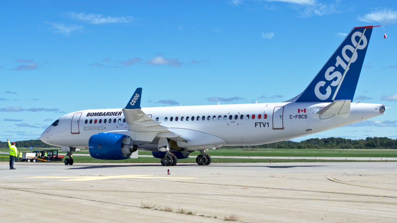 File:CSeries CS100 back from first flight.png