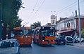 CTP trolleybus 34 and bus 5536 in Teverola (2003).jpg