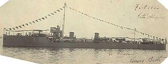 Pará-class destroyer (1908) - Image: CT Amazonas (CT 1) 7 setembro de 1923