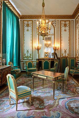 Jean Henri Riesener - Writing table of Marie-Antoinette by Riesener (1786) in the petit appartement de la reine, Palace of Versailles.