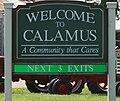 Calamus Iowa 20090712 Welcome Sign.JPG