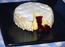 Camembert baked with cranberries in Poland.JPG