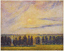 Camille Pissarro - Sunset at Eragny - Google Art Project.jpg