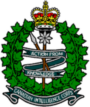 Canadian Intelligence Corps - Image: Canadian Intelligence Corps badge