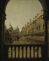 Canaletto - Interior Court of the Doge's Palace, Venice CAM CCF 194.jpg