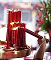 Candle for praying, LongShan Temple, Taipei, Taiwan (8429050172).jpg