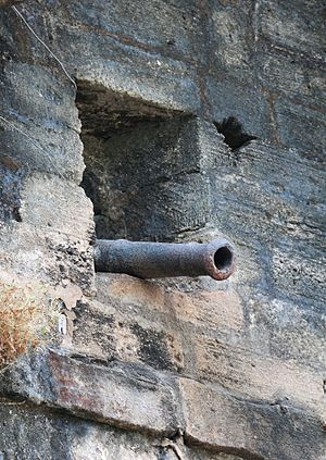 Uparkot Fort - Image: Cannon at Uperkot Fort 01