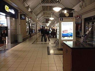 Cape Cod Mall - Wing of the mall at night in 2014