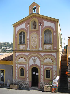 Villefranche-sur-Mer - The Chapelle Saint-Pierre  (Saint Peter's Chapel) dates from the sixteenth century