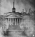 Capitol After Bulfinch Dome Removed 1856 (9269182033).jpg
