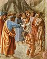 Cappella brancacci, Battesimo dei neofiti (restaurato), Masaccio.jpg