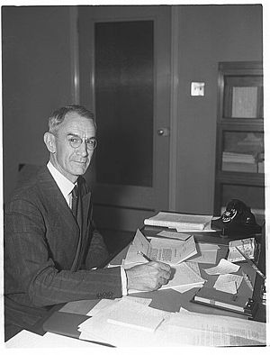 Allen B. Reed - Captain A.B. Reed, U.S. Navy Ret., liaison officer, Navy, and Office of Production Management, circa 1940