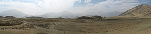 Caral - Panorama of Caral Site
