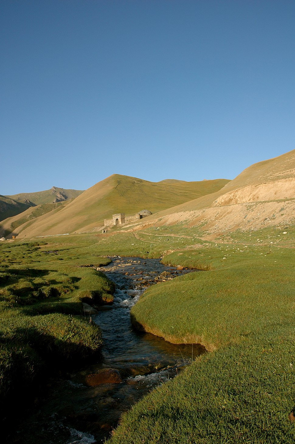 Caravanserai Tash Rabat on Silk Road in Kyrgyzstan