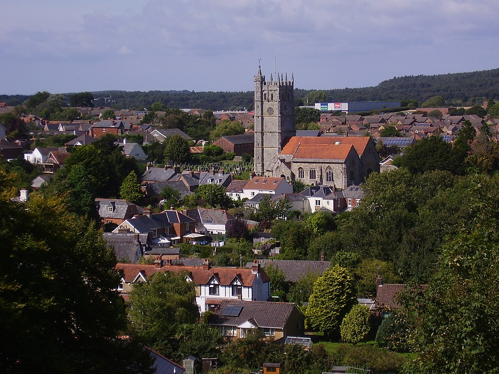 Carisbrooke church and village, IW, UK
