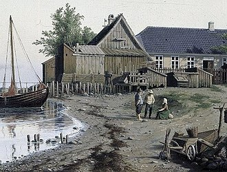 Taarbæk - The beach where Taarbæk Harbour was later built