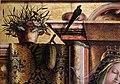 Carlo crivelli, madonna della rondine, post 1490, da s. francesco a matelica, 02 fiori e rondine.jpg