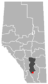 Carmangay, Alberta Location.png