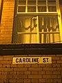 Caroline Street sign, December 2017.jpg