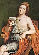 Caroto, Giovanni - Sophonisba Drinking the Poison - 1615.jpg