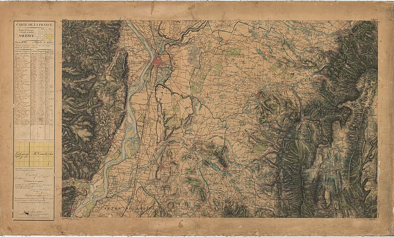 carte d état major gratuite File:Carte d'État major de la France, Feuille Valence S.E.